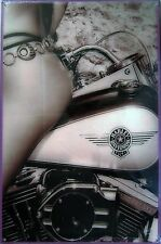 Bikini Pin-Up / Harley-Davidson Metal Sign