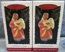 2X African-American Angel Hallmark Ornaments Celebrate Kwanzaa/Christmas 1995