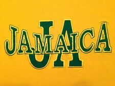VINTAGE JAMAICA YELLOW & GREEN EMBROIDERED T SHIRT XL
