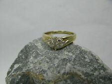 Vintage Ring / Damenring Raute 9 Brillanten 0,51ct 585 / 14 kt Gold Brillantring