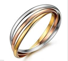 Stainless Steel 3 Colour multilayer Womens Bangle Bracelets Cuff Jewelry
