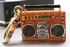 AUTHENTIC JUICY COUTURE ORANGE RADIO BOOMBOX CHARM NIB FREE SHIPPING