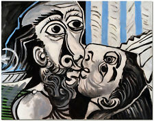 The Kiss by Pablo Picasso - Limited Edition Hand Painted Figurative Oil Painting