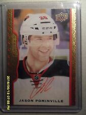 14/15 UD Masterpieces Minnesota Wild Jason Pominville Red Framed Auto /30