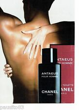 PUBLICITE ADVERTISING 116  1988  Chanel  ligne eau toilette homme Antaeus *