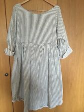 RITANOTIARA OSFA TICKING STRIPE  EMPIRE LINE DRESS TOP PRAIRIE QUIRKY LAGENLOOK
