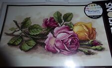 "Dimensions Counted Cross Stitch Kit ""ROSE CUTTINGS"" 9""x 14"" UPC# 088677137205"