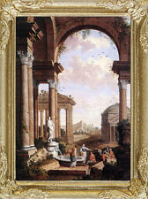 ROMAN FORUM Dollhouse Picture - Framed Italy Miniature Art - MADE IN AMERICA