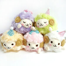 AMUSE Dreamy Wooly Sheep Plush Ball Chain Plush Stuffed Animal - Set of 5 (25c81