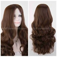 New Sexy Ladies Long Curly Full Wig Party Cosplay Fancy Dress Costume Wigs BROWN