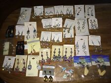 NWT CHANDELIER EARRING Huge LOT - Flea Market resale, Crafts