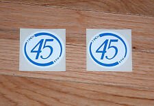 "Seeburg  7"" Inch 45 RPM Mech Decal Blue and White"