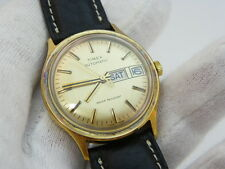 "TIMEX,Automatic Movement ""Gold Day/Date Dial""Rainbow Petina,MENS WATCH,871,L@@K!"