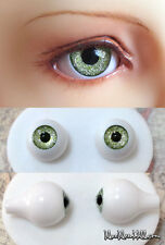 16mm acrylic doll eyes Glitter Green Tea color full eyeball bjd dollfie AE-45