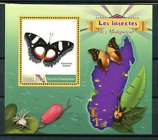 Madagascar 2016 MNH Insects Butterflies 1v S/S Diadem Butterfly Stamps