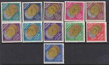Los Juegos Olímpicos: Panamá 1964 juego SG903-13 Estampillada sin montar ganadores Juegos Olímpicos de Invierno