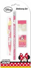 Disney Minnie Mouse Stationery Set Incl Ball Pen, Pencil, Eraser Brand New Gift