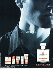 PUBLICITE ADVERTISING 065  2004  CORNINNE DE FARME  eau de toilete pour l'HOMME