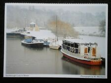 POSTCARD YORKSHIRE SPROTBROUGH LOCK IN WINTER