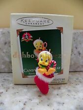 Hallmark 2005 Candy Cane Tweat Tweety Looney Tunes  Miniature Christmas Ornament