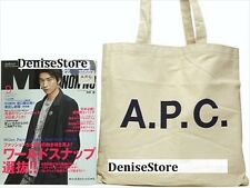 A.P.C. APC Beige Canvas Original Shoulder Tote Bag (from Japan Non-no Magazine)