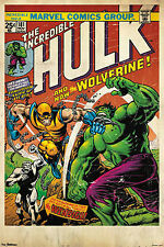 WOLVERINE & HULK - COMIC BOOK COVER POSTER - 24x36 MARVEL CLASSIC 51028