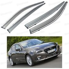 4Pcs Window Visor Vent Shade Rain/Sun Guard Deflector for Mazda 3 2014 2015 2016
