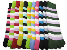 1Pair Women Winter Soft Cotton Stripe Toe Ankle Length Socks Breathable Socks