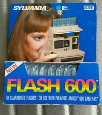 SYLVANIA FLASH 600 Flash Sticks (10 flashes) for POLAROID AMIGA 600 cameras NOS