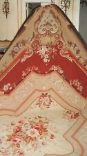 FRENCH ANTIQUE LARGE AUBUSSON HAND WOVEN TAPESTRY CARPET RUG BEAUTIFUL COLORS