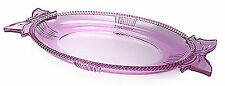 "NIB Pink Marquis by Waterford Oval Platter With Bow Handles 11.75"" FREE S&H"