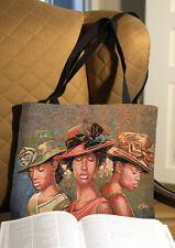 Faith Hope & Love African American Women Tapestry Tote Bag