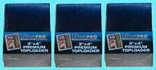 75 Ultra Pro PREMIUM Toploaders NEW 3x4 Card Sleeves Standard Size Sports Rigid