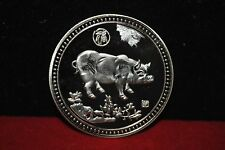 40mm Chinese Zodiac pig Alloy Gold-plated commemorative coins