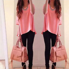 Sexy Women Summer Loose Sexy Vest Tee Shirt Tops Blouse Ladies Top Size S CWK01