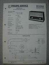 PHILIPS b6d04a capella stereo 604 Service Manual incl. servizio INFO Savelletri. 03/60