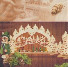 2 serviettes en papier - Crèche de Noël - Paper Napkins Christmas Crib