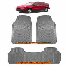 3PC ALL WEATHER  GRAY RUBBER FLOOR MATS SET for PONTIAC G5 TORRENT