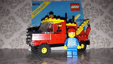 Lego 6674 Town / City - Crane Truck 1988 100% Instructions 1 Figure