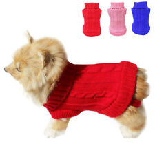 Dog Cat Clothes Winter Warm Sweater Knitwear for Small Dogs Puppy Coat Apparel#