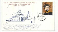 AT183 1972 GB *SOUTHAMPTON* Hants Antarctic RRS Bransfield 2nd Voyage Cover PTS