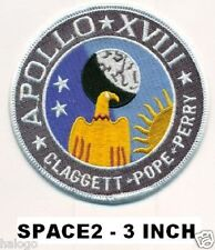 SPACE TV MINISERIES APOLLO 18 PATCH- 3 INCH -  SPACE2