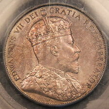 1906 Canada Silver 50 Cents PCGS MS-63 Light pastel colored toning