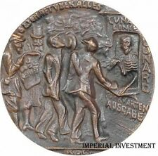 BRITISH BRONZE MEDAL KARL GOETZ - THE SINKING OF THE LUSITANIA  05.MAY1915  #375