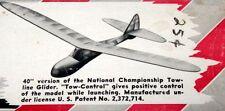 Vintage SINBAD 40 Berkeley Tow Line Glider Model Airplane PLAN + Parts Patterns