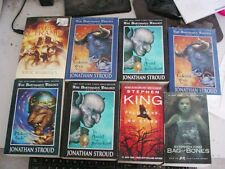 ASSORTED LOT OF 8 BOOKS STEPHEN KING AND JONATHAN STROUD RICK RIORDAN READ