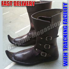 Unique Christmas Gifts Cheap Medieval Shoes Pure Leather Long Boot s1