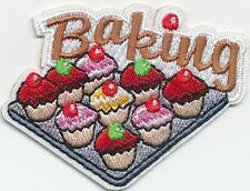 Girl Boy Cub BAKING cupcakes class day event Fun Patches Crest Badge SCOUT GUIDE