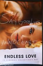 ENDLESS LOVE 2014 1 SHEET POSTER GABRIELLA WILDE ALEX PETTYFER ROMANCE