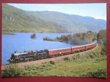 POSTCARD C4-5 STANDARD CLASS LOCO NO 75014 ON THE SHORES OF LOCH EILT 9/8/95